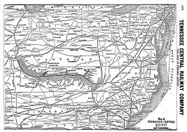 Tennessee City Map by The Tennessee Central Railway The Nashville Route