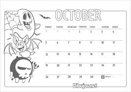 october 2017 calendar coloring u2013 printable editable blank