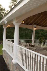 contemporary turned baluster porch handrail deck railing