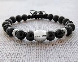 mens personalized bracelet personalized mens cuff bracelet engraved message memorial
