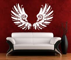 28 gothic wall stickers griffin large design gothic wall gothic wall stickers wall art sticker decal vinyl 0097 scroll wings angel