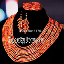 african jewelry necklace set images 2018 18k new design african jewelry set nigerian wedding red coral jpg