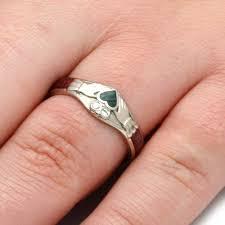 claddagh engagement ring claddagh engagement ring w jade heart diamonds wood