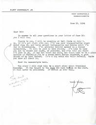 Cover Letter Template For Administrative Assistant Sincerely Yours U2013 Letters From The Archives Kurt Vonnegut Jr