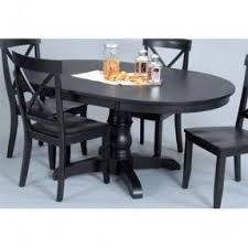 Black Oval Dining Room Table - oval pedestal table foter