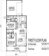Cottage Floor Plans One Story Small Low Cost Economical 2 Bedroom 2 Bath 1200 Sq Ft Single Story