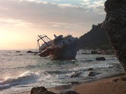 shipwreck in agios gordios corfu greece imgur