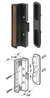 door handles for glass doors wgsonline sliding glass patio door handle set black type 1 for