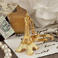 keychain favors gold eiffel tower key chain favors kitchen dining