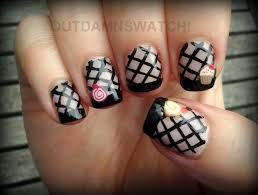 stick on nail art out damn swatch
