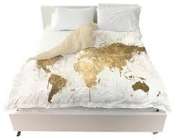 Duvet Covrs Mapamundi White Gold