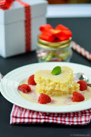 tres leches cake hearts with raspberry cream sauce recipe