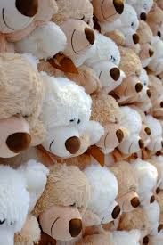 s day teddy bears a lot of teddy bears a gift on st s day stock