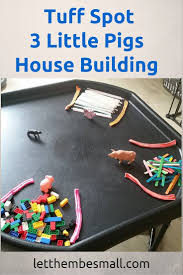 three building three pigs house building tuff spot is a great activity for