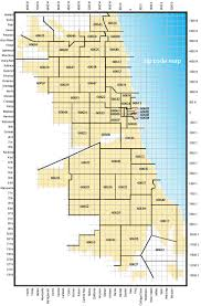 Map Chicago Il by Map Showing Zip Code Areas And Major Streets Of The Chicago Street