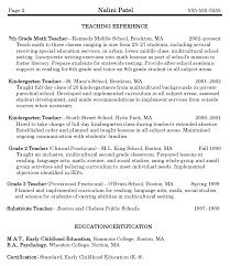 curriculum vitae exles for mathematics teachers how to write an excellent teacher resume