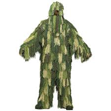 Army Halloween Costumes Camo Camouflage Army Military Ghillie Yowie Suit Mens