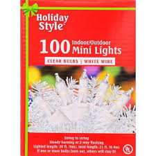 events white wire clear mini lights 100 ct