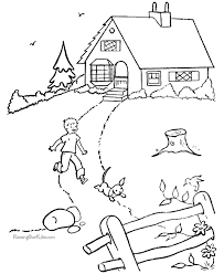 house coloring pages fablesfromthefriends