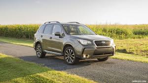 subaru forester 2017 silver 2017 subaru forester 2 0xt touring front three quarter hd