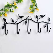 Metal Wall Decor Target by Aliexpress Com Buy Hat Key Holde Clothes Hook Wall Hanger Bird