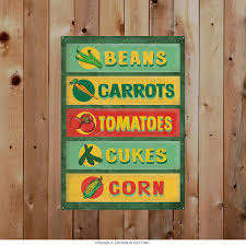 farm stand vegetables menu metal sign country kitchen signs