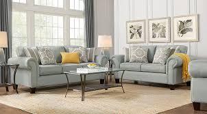 yellow living room set pennington blue 5 pc living room living room sets blue