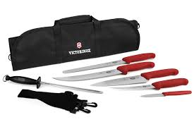 victorinox fibrox bbq knife roll set 7 piece cutlery and more