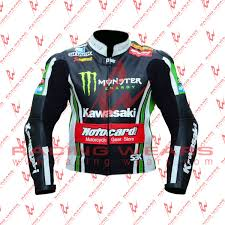 motorcycle racing jacket racing wears tom sykes kawasaki motorbike racing leather jacket