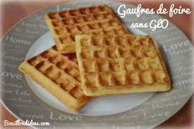 cuisiner sans oeufs gaufres de foire sans glo gluten lait œuf