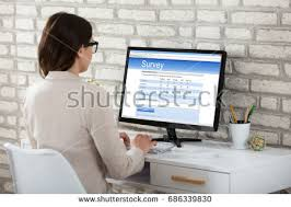 Office Rear View Desk Mirrors Rear View Creative People Standing Row Stock Photo 427551601