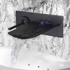 led waterfall bathroom basin faucet 3 holes oil rubbed bronze face