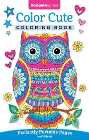 amazon com color cute coloring book perfectly portable pages on
