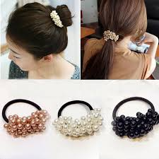 vintage accessories women hair accessories pearls headbands ponytail holder