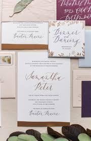 Ruby Anniversary Invitation Cards Romantic Copper Foil Wedding Invitations