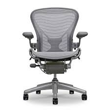 herman miller classic aeron chair titanium base with smoke