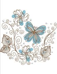 floral swirl collection machine embroidery designs by sew swell