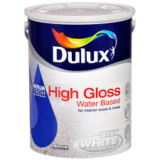 dulux stay white with aquatech high gloss paint 5 litre gloss