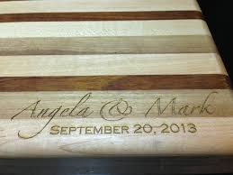 cutting board wedding gift custom engraved cutting board as a handmade wedding gift mac
