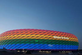 Usa Rainbow Flag Bayern Munich Light Allianz Arena In Rainbow Flag On Christopher