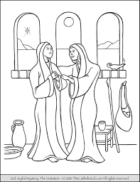 the 2nd joyful mystery coloring page visitation joyful