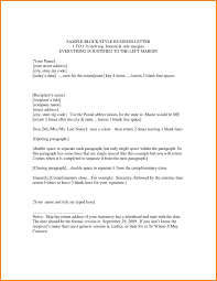 Business Letterhead Format Example by Block Letter Business Format Example Compudocs Us
