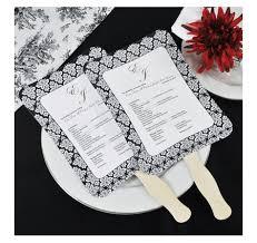Diy Fan Programs Fan Wedding Program Kit Wedding Fan Programs