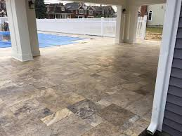 Travertine Patio Travertine Paver Patio Construction Premier Lawn And Landscape