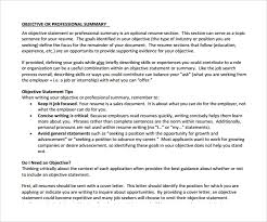 sample professional summary template 8 free documents in pdf