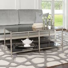 brushed nickel coffee table nickel brushed cocktail coffee tables accent tables bellacor