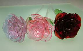 glass roses the of glass and floral offerings