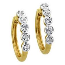 hoops earrings india diamond hoop earrings bge071 gold earrings homeshop18