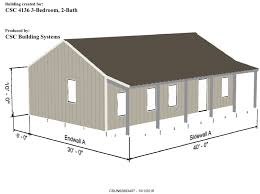 metal frame house kit model 4136 960 sqft 2 covered porches