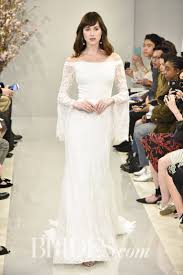 wedding dress with sleeves theia kristin lace the shoulder wedding gown 2018 brides